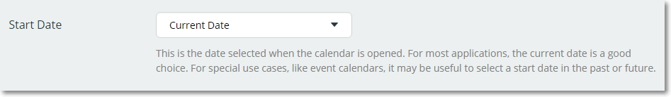 Set Start Date