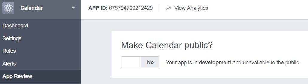 Make app public
