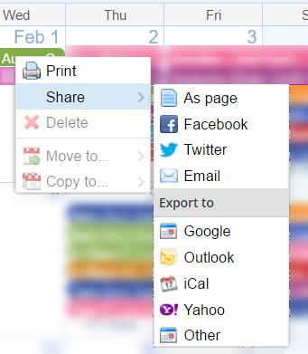 event context menu