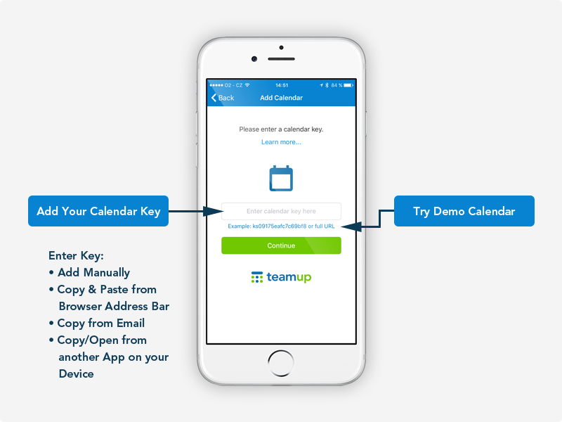 how to link calendars on iphone using teamup mobile app for iphone amp 3026