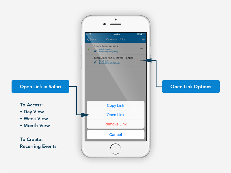 Link options via the dashboard