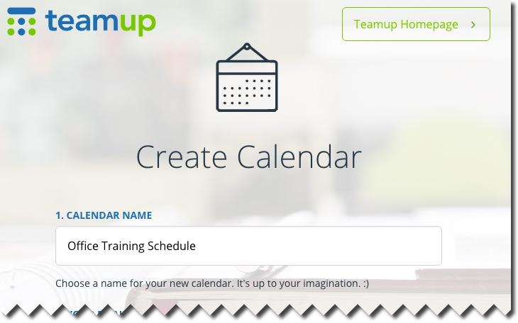 Create Calendar - Name