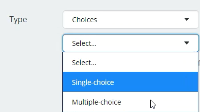 custom fields choices select