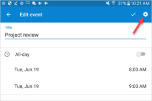 Teamup Android App supports comments on events.