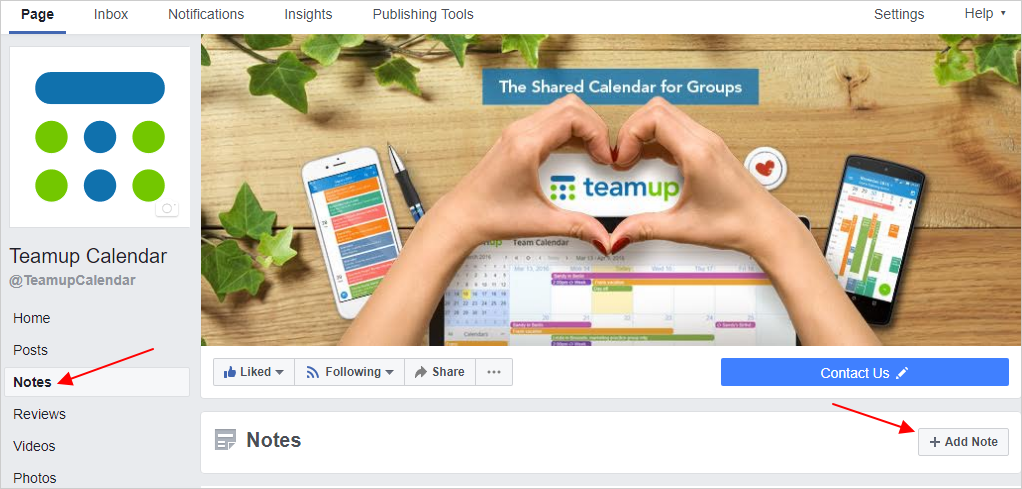 How to View Teamup Calendar on Facebook Mobile