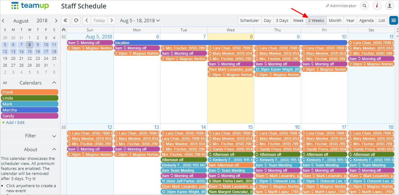 Calendar Week.Advantages Of Using The Multi Week View