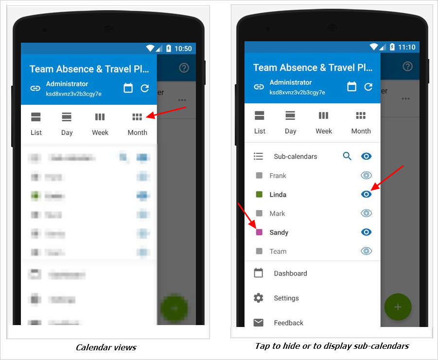 Android Calendar.Using The Teamup Mobile App For Android