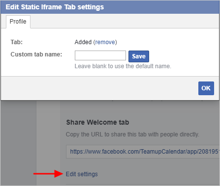 How to Add a Teamup Calendar to a Facebook Page (Using Woobox Tab App)