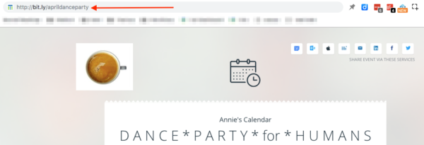 Invite people to events and share individual events from your Teamup calendar
