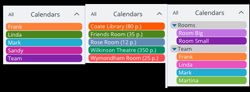 simple sub-calendars