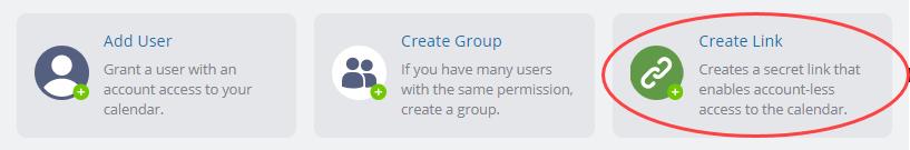 create a calendar link for sharing